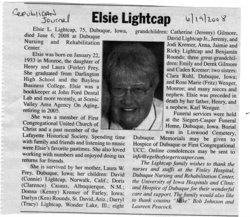 Elsie E <i>Frey</i> Lightcap