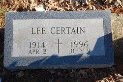 Lee Certain