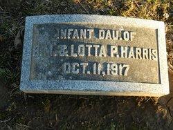 Infant Daughter Harris