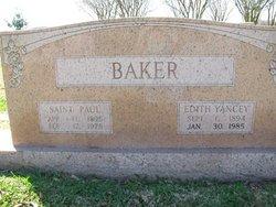 Edith <i>Yancey</i> Baker