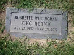 Bobette Willingham <i>King</i> Hedick