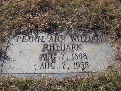 Peanie Ann <i>Pierce Williams</i> Rheuark