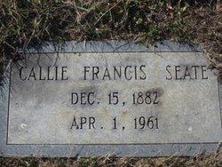 Callie Frances <i>Williams</i> Seate