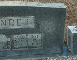 Sallie Effie <i>Lewis</i> Alexander