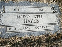 Meecy Izell <i>Pendleton</i> Hayes