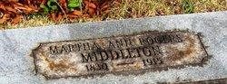 Martha Ann <i>Rogers</i> Middleton