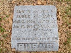 Lydia Menter <i>Burns</i> Davis