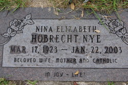 Nina Elizabeth <i>Hobrecht</i> Nye