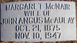 Margaret Clementine <i>McNair</i> McAulay