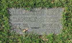 Elizabeth Ann Bimby <i>Daniels</i> Cook