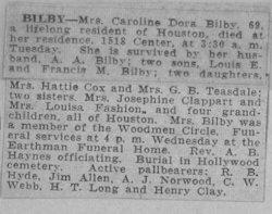 Caroline Dora <i>Ernst</i> Bilby