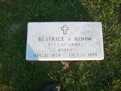 Beatrice A <i>Thomas</i> Rohm
