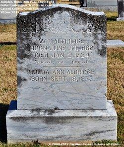 Hulda Ann <i>Page</i> Aldridge
