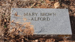 Mary M. <i>Brown</i> Alford