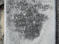 Sarah Sophronia <i>Pickard</i> Persons