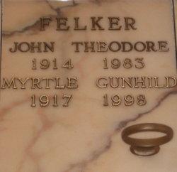 Myrtle Gunhild <i>Olsen</i> Felker