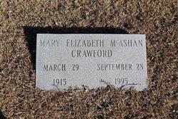 Mary Elizabeth <i>McAshan</i> Crawford