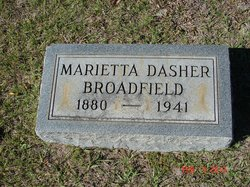 Marietta <i>Dasher</i> Broadfield