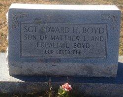 Sgt Edward Harless Boyd