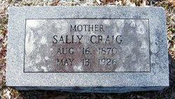 Mrs Sarah Lee Sallie <i>Pegram</i> Craig