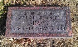 Beulah Ann <i>Brownlee</i> Adams