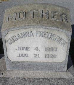 Susanna <i>Weider</i> Frederick