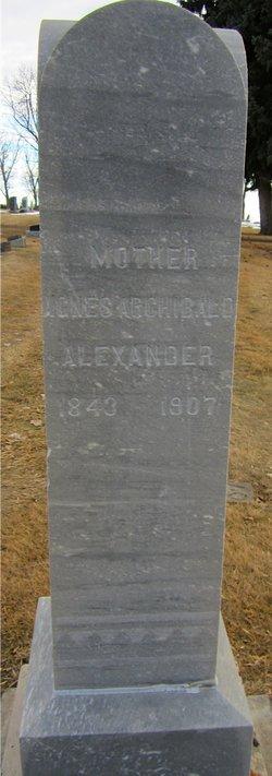 Agnes <i>Archibald</i> Alexander