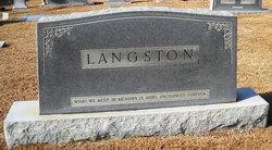 Ellen Mae <i>Purvis</i> Langston