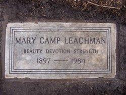 Mary <i>Camp</i> Leachman