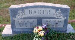 Frances Elizabeth Bess <i>Brown</i> Baker