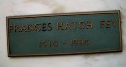 Frances Hatch <i>Hatch</i> Fey