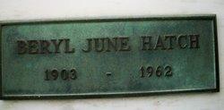 Beryl June Hatch