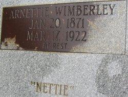 Arnettie Nettie <i>Yates</i> Wimberley