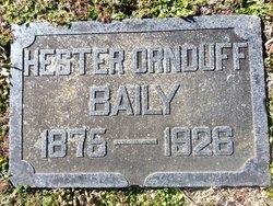 Margaret Hester <i>Ornduff</i> Baily