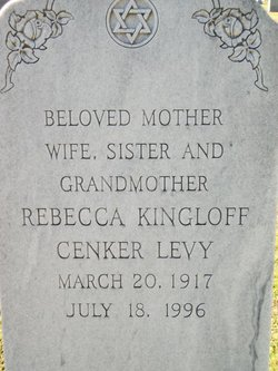 Rebecca <i>Kingloff Cenker</i> Levy