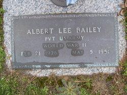 Pvt Albert Lee Bailey
