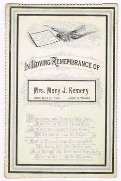 Mary Jane <i>Hoover</i> Kemery