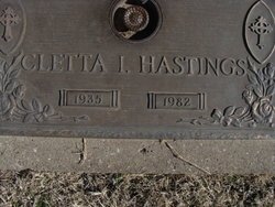 Cletta I Hastings