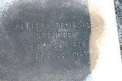 Addie Alberta <i>Brownlee</i> Pettigrew