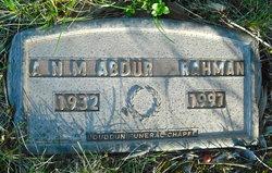A. N. M. Abdur Rahman