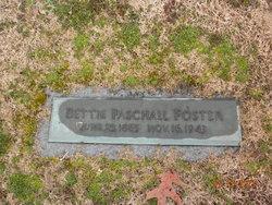 Mary Elizabeth Bettie <i>Paschall</i> Foster
