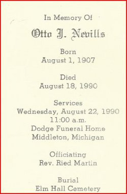 Otto John Nevills