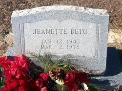 Ethel Jeanette <i>Eakin</i> Beto