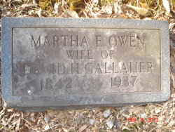 Martha E <i>Owen</i> Gallaher