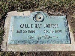 Callie May <i>Hicks</i> Johnson