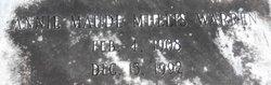 Annie Maude <i>Mullis</i> Warren
