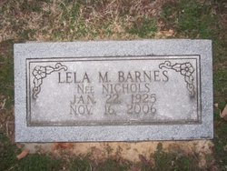 Lela M. <i>Nichols</i> Barnes