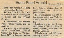 Edna Pearl <i>Crawley</i> Arnold