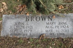 Mary Jane <i>Stahl</i> Brown