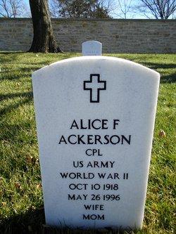 Alice F Ackerson